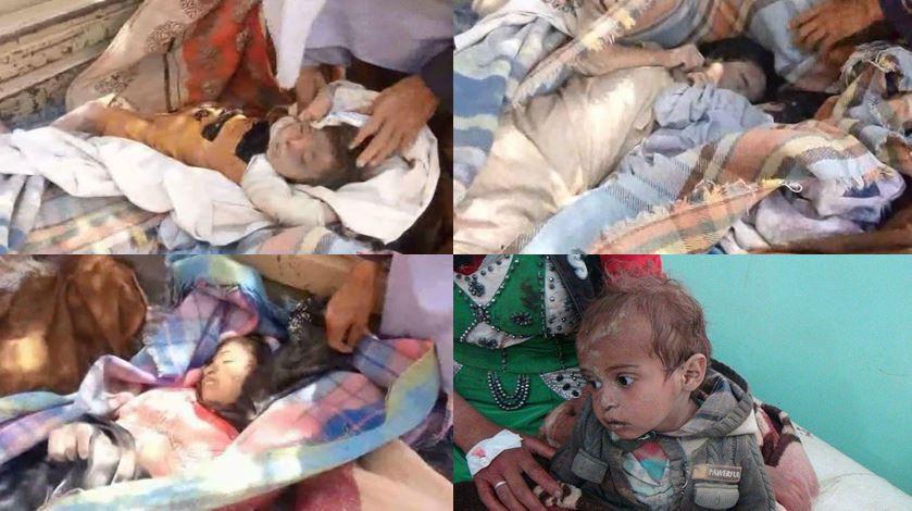 صور وأسماء| ضحايا مجزرة للعدوان بحق أطفال ونساء في مديرية باقم بصعدة