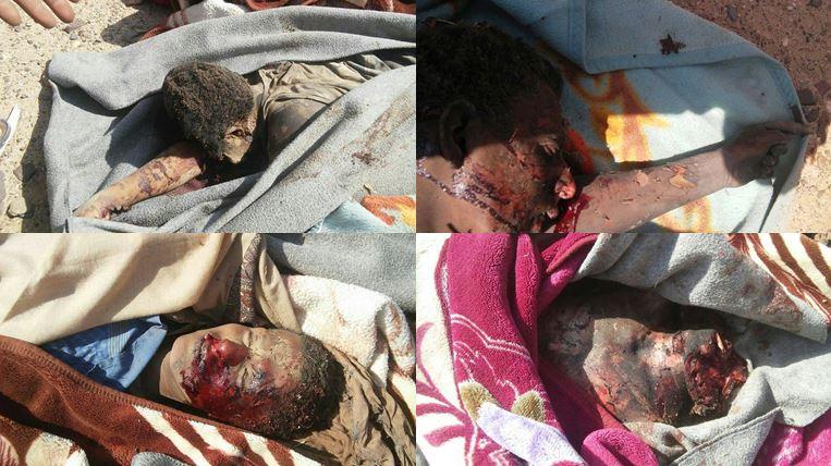جُثث متفحّمة وأخرى مقطوعة الرأس.. صور مؤلمة من مجزرة العدوان في مأرب والحصيلة 14 شهيداً وجريحاً