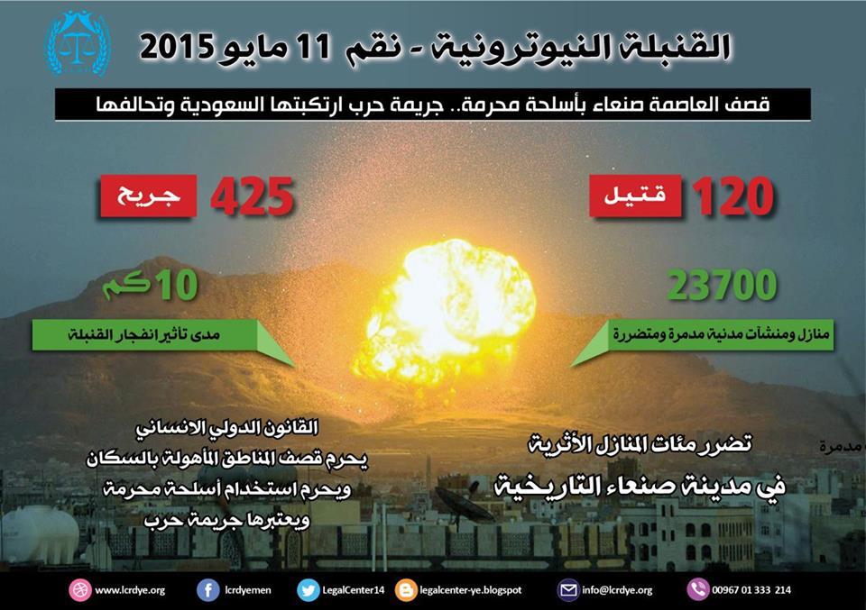 إنفوجرافيك: هذا ما أحدثته القنبلة النيترونية التي ألقاها العدوان على العاصمة صنعاء في مثل هذا اليوم قبل عامين
