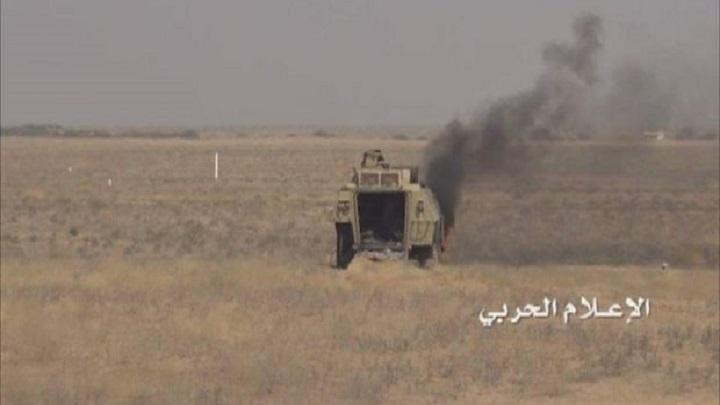وحدة الهندسة العسكرية تُعطب آليتين للمرتزقة شمال صحراء ميدي