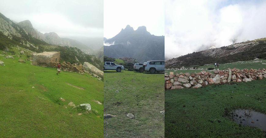 """الاحتلال الإماراتي يستخدم القوة لإرغام المواطنين على بيع أراضيهم بسلسلة  جبال """"حجهر"""" السياحية في"""