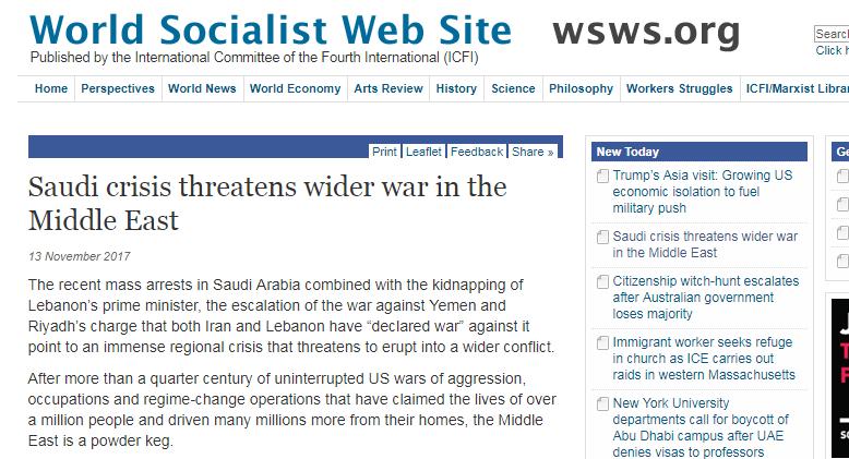 موقع أمريكي: الأزمة السعودية سينجم عنها حرب واسعة النطاق في الشرق الأوسط