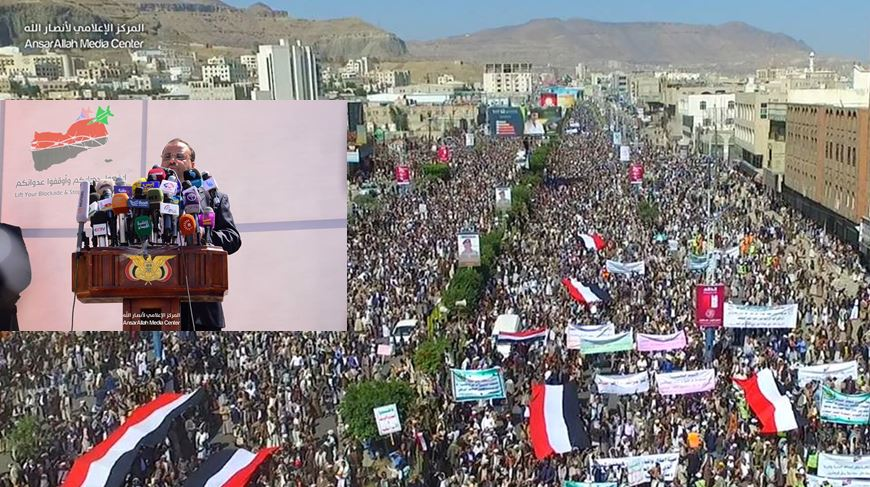 """الرئيس يطمئن الشعب ويوجه رسالة لحكومة الإنقاذ ويُعلّق على """"صاروخ الرياض"""""""