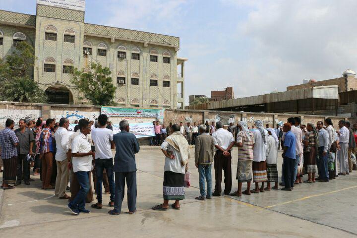 الحديدة: وقفة احتجاجية لموظفي قطاع الاتصالات
