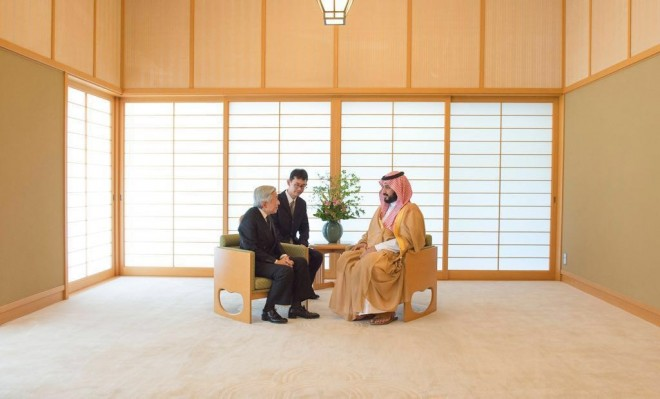 هكذا استقبل امبراطور اليابان محمد بن سلمان.. وهذه الرسالة التي أراد أن يوصلها له؟! + (صور)