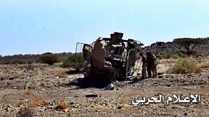 تدمير عدد من الآليات العسكرية لمرتزقة العدوان السعودي في الجوف