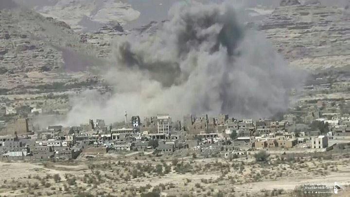 العدوان السعودي يواصل إستهداف منازل المواطنين في صعدة