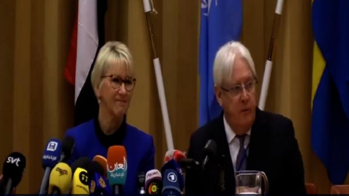 عاجل: المبعوث الأممي من السويد يعلن عن إتفاق كبير وهام بين الأطراف اليمنية بعد إنتهاء جلسة المشاورات الأولى (تفاصيل)